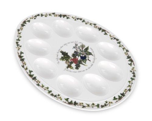 (Portmeirion Holly & Ivy Devilled Egg Dish 12
