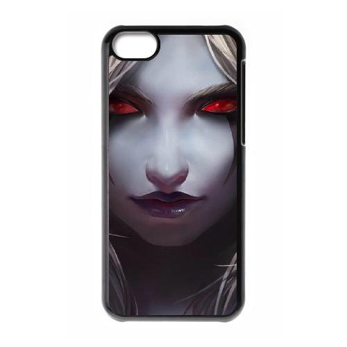 Sylvanas coque iPhone 5c cellulaire cas coque de téléphone cas téléphone cellulaire noir couvercle EEECBCAAN08327