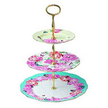 Royal Albert Devotion, Gratitude and Joy 3-Tier Cake Stand Designed by Miranda Kerr