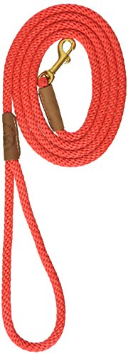 (Mendota Pet 3/8-Inch by 6-Feet Snap Leash, Small, Red)