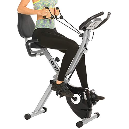 ANCHEER-Exercise-Bike-Fitness-Bike-Foldable-F-Bike-Indoor-Cycling-Bike-at-Home-Fitness-Bike-with-10-Levels-Adjustable-Magnet-Resistance-and-Arm-Training-Bands
