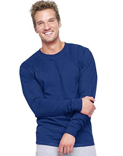- Hanes Adult Beefy-T Long-Sleeve T-Shirt, XX-Large, Deep Royal