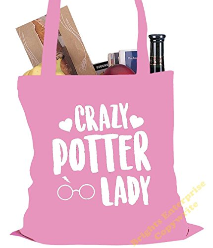 original reuseable cm Bag tote 38 our Tote bag 109 Gym Size x 10 42 with Shopping litres Harry the Potter Birthday wording from An or range Potter unique stocking Christmas Pink Lady Beach Crazy xxTStfqg1w