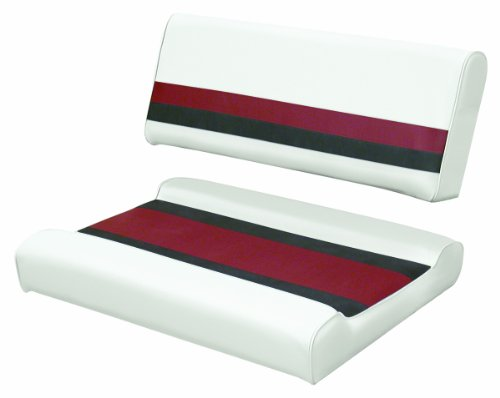 UPC 085211768208, Wise 8WD125FF-1009 White/Charcoal/Red Pontoon Flip-Flop Seat Cushion Set - For use with 8WD125FF-1B Series Base