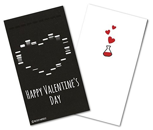 Mini Gel Electrophoresis Heart Valentines (Set of 24) for Valentine's Day by Nerdy (Pcr Gel Electrophoresis)