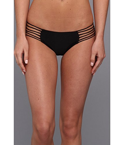 MIKOH Women's Kapalua Bikini Bottoms, Night, Black, Medium (Bikini Mikoh)