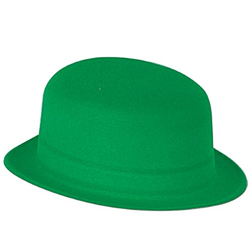 (Club Pack of 24 St. Patrick's Day Green Velour Derby Hat Costume)