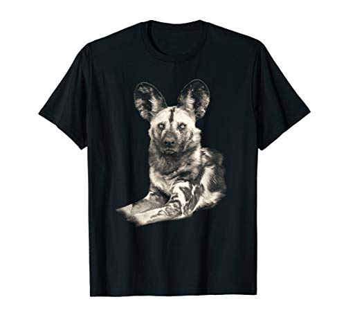 (Wild Dog Picture T-shirt in Vintage Sepia)