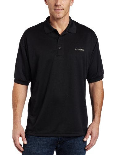 Cast Mens T-shirt - Columbia Men's Perfect Cast Polo, Black, Small