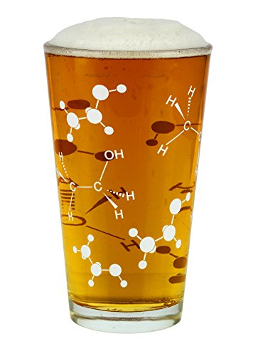 Barbuzzo Chemist Approved Beer Pint Glass  16 Ounces   Bring Out Your Inner Nerd  Geek Or Chemist   Great Gift For Bio   Chem Grads  Nurses  Doctors And All Those In The Medical   Research Fields