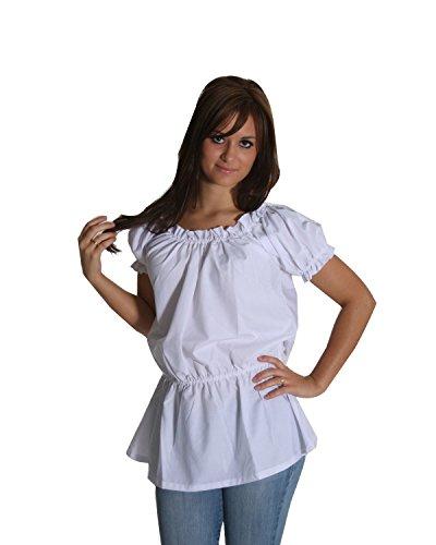 SC88512A Renaissance White Chemise Shirt Medieval Peasant Blouse (M)