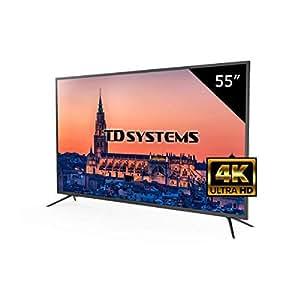 Televisor Led 55 Pulgadas Ultra HD 4K TD Systems K55DLM8U. Resolución 3840 x 2160, 3X HDMI, VGA, USB Reproductor y Grabador.