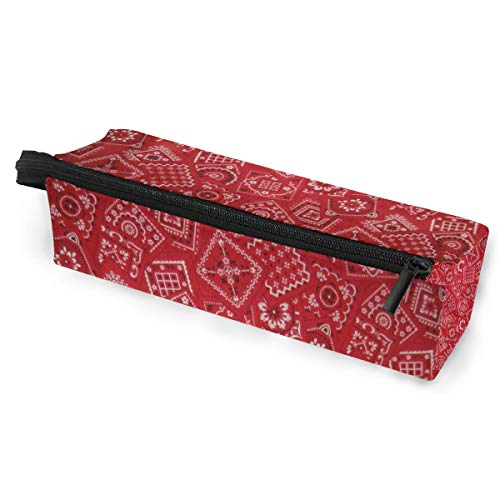Pencil Bag Case Sunglasses Red Bandana Cosmetic Students Stationery Pouch Zipper for Girls Boys]()