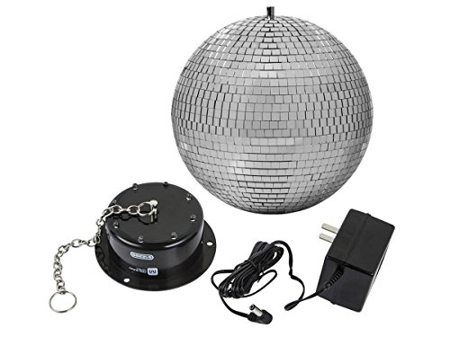 Monoprice Mirror Ball & Motor - 10 Inch | With LED Lights, Perfect for parties, dances, concerts, DJ performances, and family gatherings - Stage Right Series ()