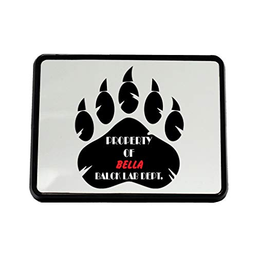 (Style In Print Personalized Custom Text Property of Balck Lab Dept. Plastic Truck Hitch Cover)