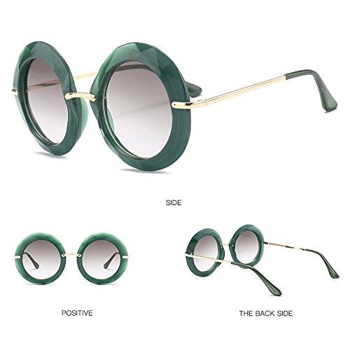 Sol Euramerican De Sol Tendencia De Black De Redondas Gafas Green Gafas Marco De Grande 806Pw