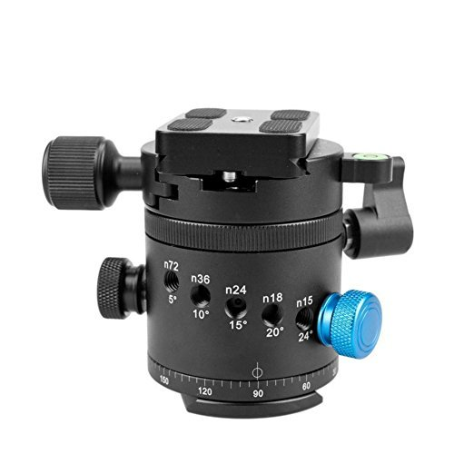 Gemtune DH-55 Panoramic Ball Head Tripods Head with Indexing Rotator, with Quick Release Plate &Clamp.