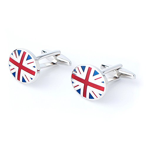 Anfly Official England British Flag Cufflinks lag Wedding Dress Shirts Cufflinks for Men