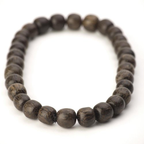 81stgeneration Women's Men's Wood Bead Brown Strand Stretch Adjustable Necklace