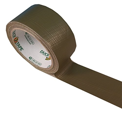 - Duck 241340 Color Duct Tape, 1.88 Inches x 15 Yards, 1-Roll, Olive Matte
