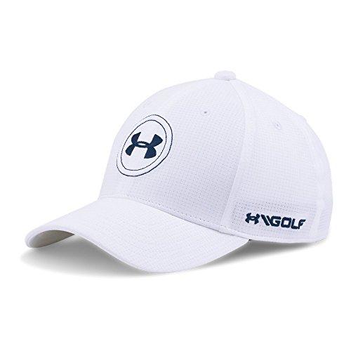 Under Armour Boys Golf Official Tour Cap, White /Academy, Youth Small/Medium