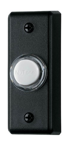 (NuTone PB69LBL Wired Lighted Door Chime Push Button, Black)