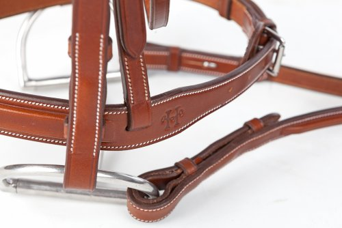 (Huntley Equestrian Sedgwick Leather English Bridle Cheek Pieces)