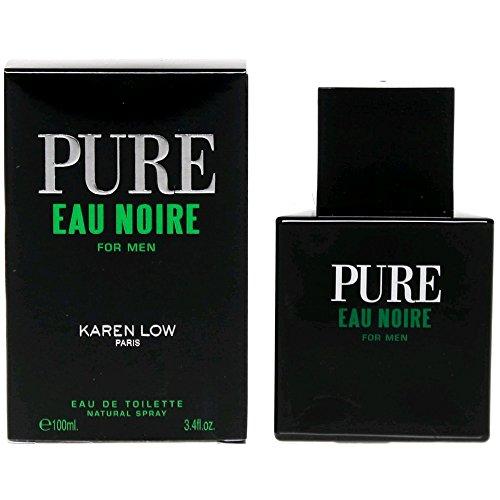 Pure Eau Noire FOR MEN by Karen Low – 3.4 oz EDT Spray