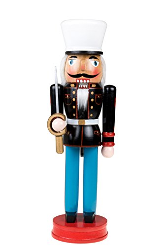US Military Nutcracker | Traditional Christmas Decor | With Ceremonial Sword | Wearing Marine Dress Uniform | Perfect for Any Collection | Perfect for Shelves & Tables | 100% Wood | 14