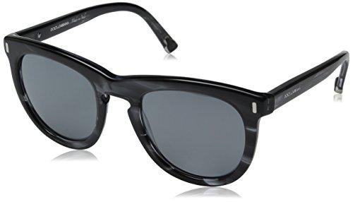 D&G Dolce & Gabbana Women's 0DG4281 Wayfarer Sunglasses, Striped Anthracite, 52 - Wayfarer Dolce And Sunglasses Gabbana
