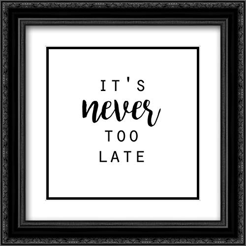 Quotable IV 20x20 Black Ornate Frame and Double Matted Art Print by Hambly, ()