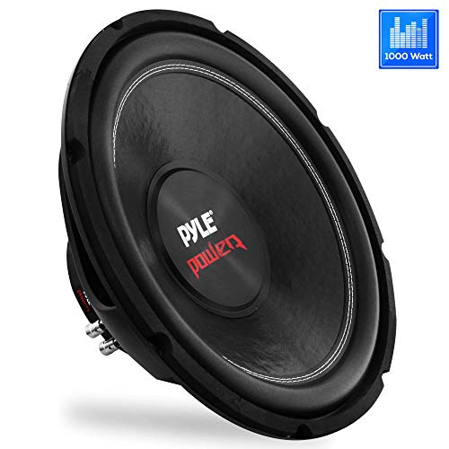 10 Car Audio Speaker Subwoofer - 1000 Watt High Power Bass Surround Sound Stereo Subwoofer Speaker System - Non Press Paper Cone, 90 dB, 4 Ohm, 50 oz Magnet, 2 Inch 4 Layer Voice Coil - Pyle PLPW10D