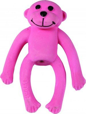Lil Toy Pals Coastal (Coastal Pet Products Li'l Pals Latex Monkey Dog Toy Pink, 4-Inch Long - (1-Unit))