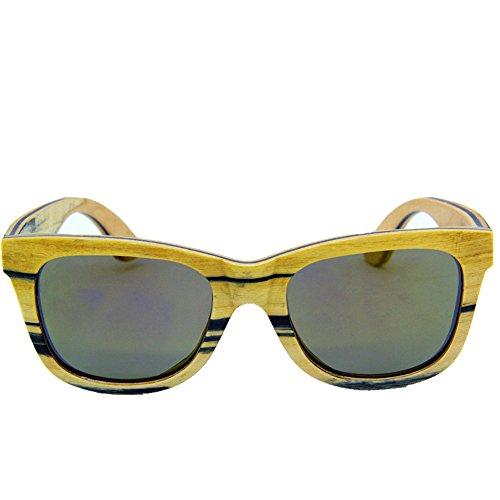 de de Gafas Tiras a Gafas Madera Protección Aclth TAC de Personalidad de Hechas Sol de conducción polarizadas Mano Gafas Hombres Retro de de los de Gafa Playa de Sol Lente Sol UV Gafas Sol Fxqfww0