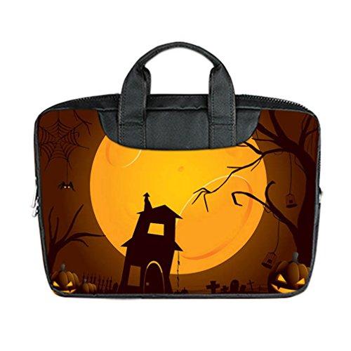 JIUDUIDODO Custom Cool Halloween Evil Jack with Bat Nylon Waterproof Bag Computer Bag Handbag for Laptop 15