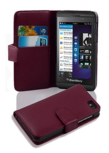 Cadorabo - Book Style Wallet Design for Blackberry Z10 with 2 Card Slots and Money Pouch - Etui Case Cover Protection in PASTEL-PURPLE