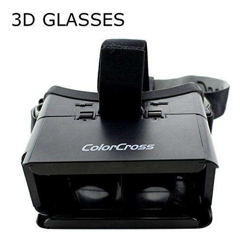 RUGUO Universal VR Virtual Reality 3D Video Glasses For 4~6 inch Smartphones - Adjustable Pupillary Distance, Adjustable Strap.