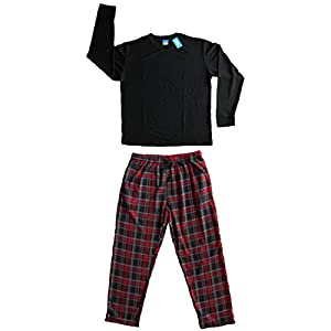 Men's 2 PC Thermal Top & Fleece Lined Pants Pajamas Set