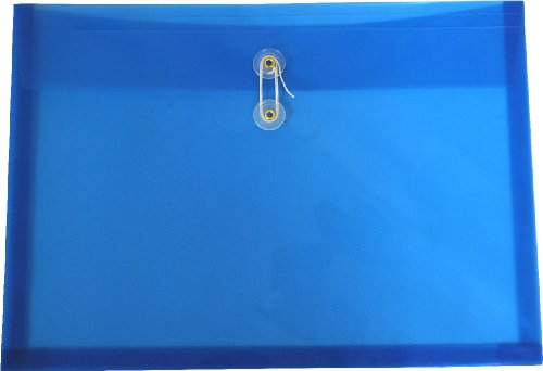 Filexec Poly Envelope, Legal Size, Side Load, Button String Closure,Blue (Pack of 6) (50066-15101)