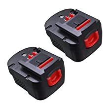 GERIT--2PACKS Black and Decker HPB12 12V 3.0Ah NI-CD Replacement Battery for Tools A1712 FS120B FSB12 A12 A12-XJ A12EX FS120B FSB12(1pack)