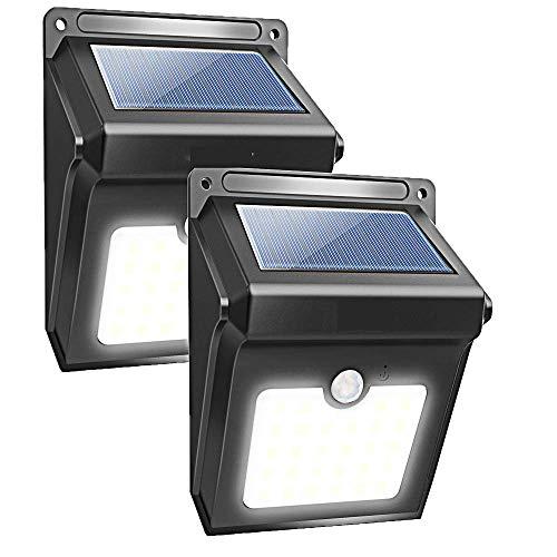 (ElecRat Solar Outdoor Motion Sensor Lights,270°Wide Angle Wireless Waterproof Lights Easy Install for Deck, Yard, Garden,Garage(Black))