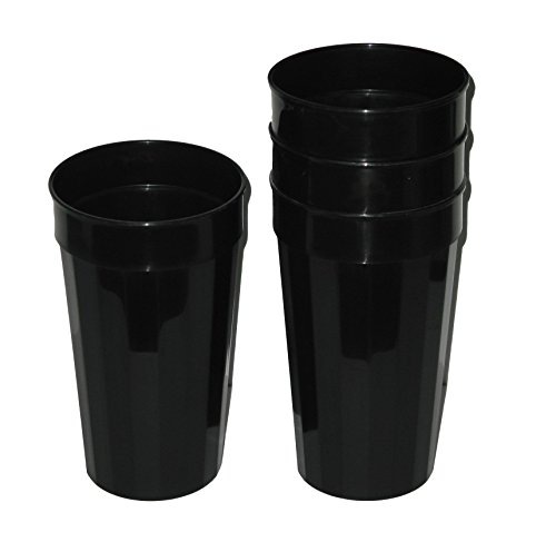 Talisman, Plastic Fluted Drinking Tumblers, Large 32 Ounces,