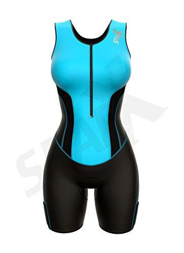 Sparx Women Triathlon Suit Tri Short Racing Cycling Swim Run (Small, Aqua) by Sparx Sports (Image #1)