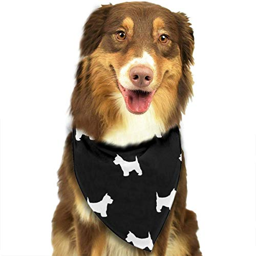 Expansion Crittertrail Kit (BAGT Pet Dog Bandana Scarf Pack Triangle Bibs Terrier Dog Silhouette Black Kerchief Set Accessories for Small to Large Dogs Cats Pets)