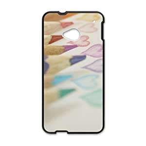 colorful pencil heart personalized high quality cell phone case for HTC M7