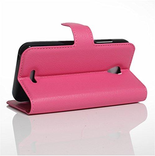 Funda WIKO FREDDY ,Manyip Caja del teléfono del cuero,Protector de Pantalla de Slim Case Estilo Billetera con Ranuras para Tarjetas, Soporte Plegable, Cierre Magnético(JFC11-37) E