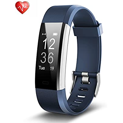 Fitness Tracker Heart Rate Monitor Activity Tracker Waterproof Smart Bracelet with Pedometer Sleep Monitor Smart Watch for Android and iOS Smartphones Estimated Price £15.99 -