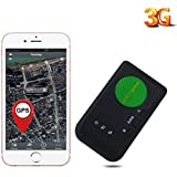 AUENLIPHTO 3G GPS Tracker for Vehicle kids elders Real-time Portable Wireless Personal No Monthly Fee WCDMA global tracking device -FREE Car charger Kit (Black)