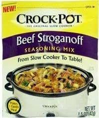 Amazon.com : Crock Pot Beef Stroganoff Seasoning Mix (1.5