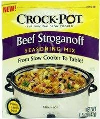 Crock Pot Beef Stroganoff Seasoning Mix (1.5 oz Packets) 3 Pack